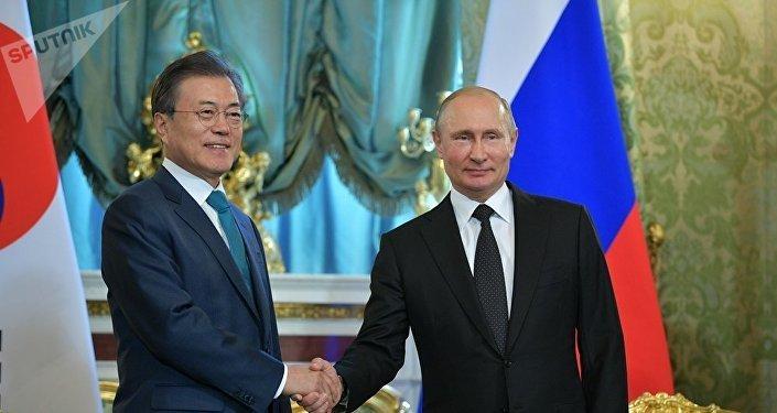 韓國總統文在寅應普京邀請21日抵達莫斯科