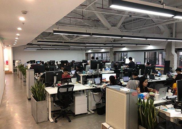 流利说创业公司的办公室