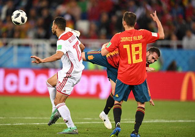 世界杯小组赛西班牙与摩洛哥战平