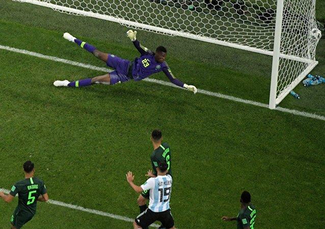 阿根廷队胜尼日利亚队小组出线
