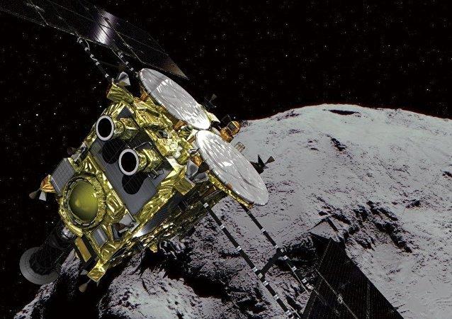 """日本""""隼鸟-2""""号探测器抵达目标""""龙宫""""小行星"""