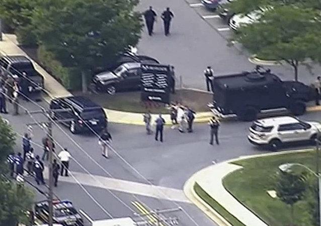 美国马里兰州的CAPITAL GAZETTE编辑部发生枪击案