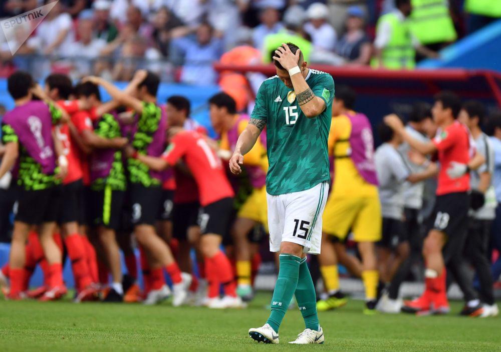 世界杯F組韓國對陣德國,圖為德國球員尼克拉斯·聚勒