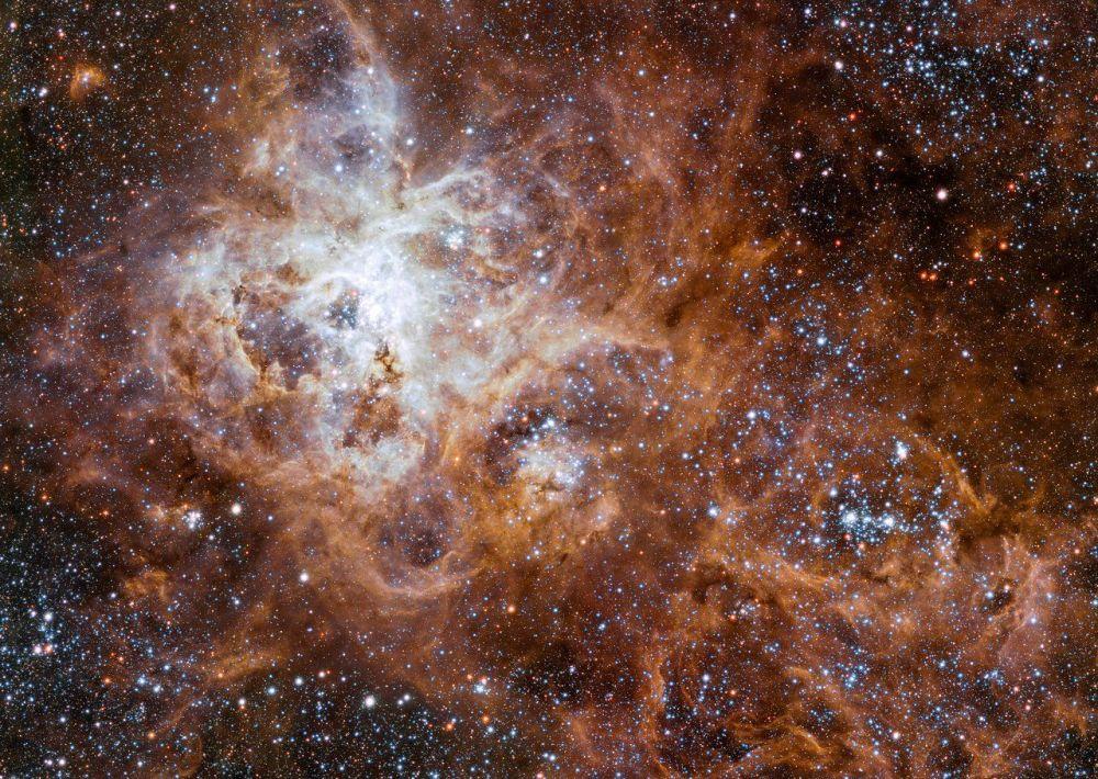 在大麥哲倫星系中的狼蛛星雲