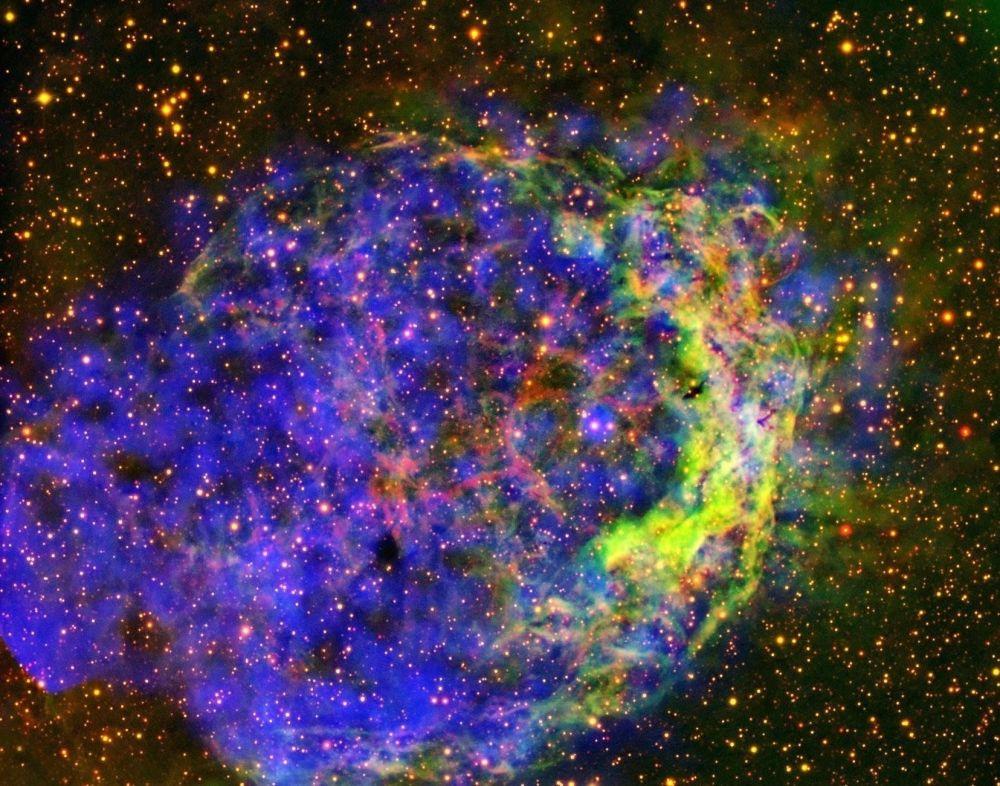 在船底座NGC 3199星雲中的氣體