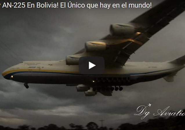 实拍世界最大运输机安-225超低空掠地飞行