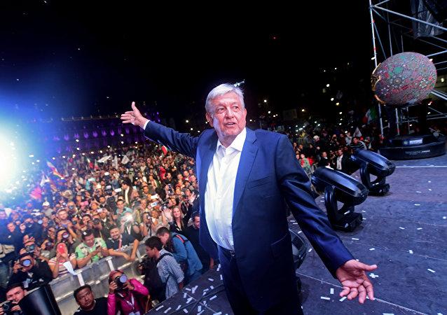 墨西哥現任總統祝賀奧夫拉多爾贏得本次大選