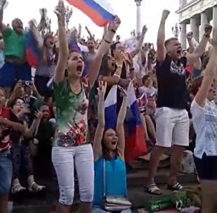 俄罗斯举国欢庆国家队大捷
