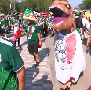 薩馬拉市中心舉行2018世界杯巴西狂歡節