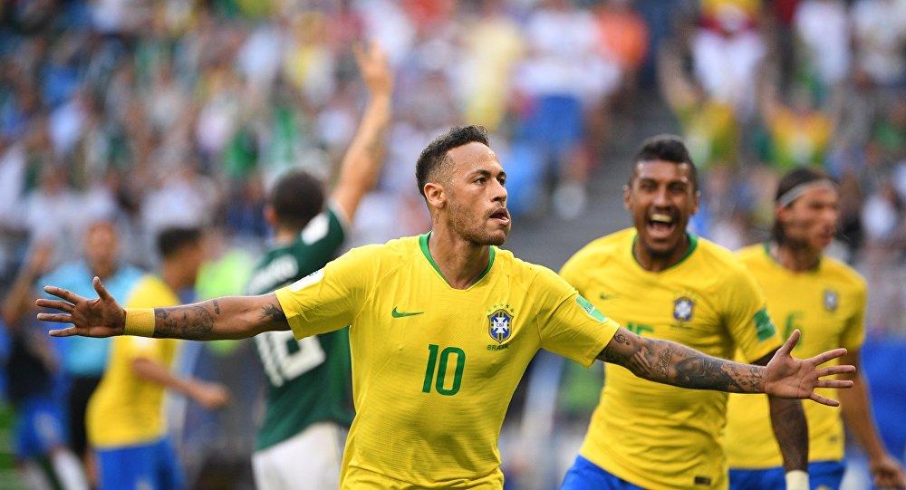 2018世界杯巴西队1:0击败墨西哥队