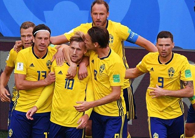 2018世界杯瑞典隊挺進四分之一決賽