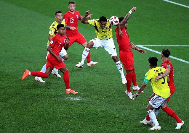 英格兰队点球战胜哥伦比亚队 进入世界杯1/4决赛
