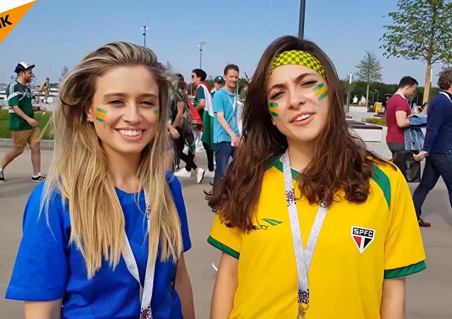 巴西球迷说俄语