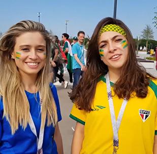 巴西球迷說俄語