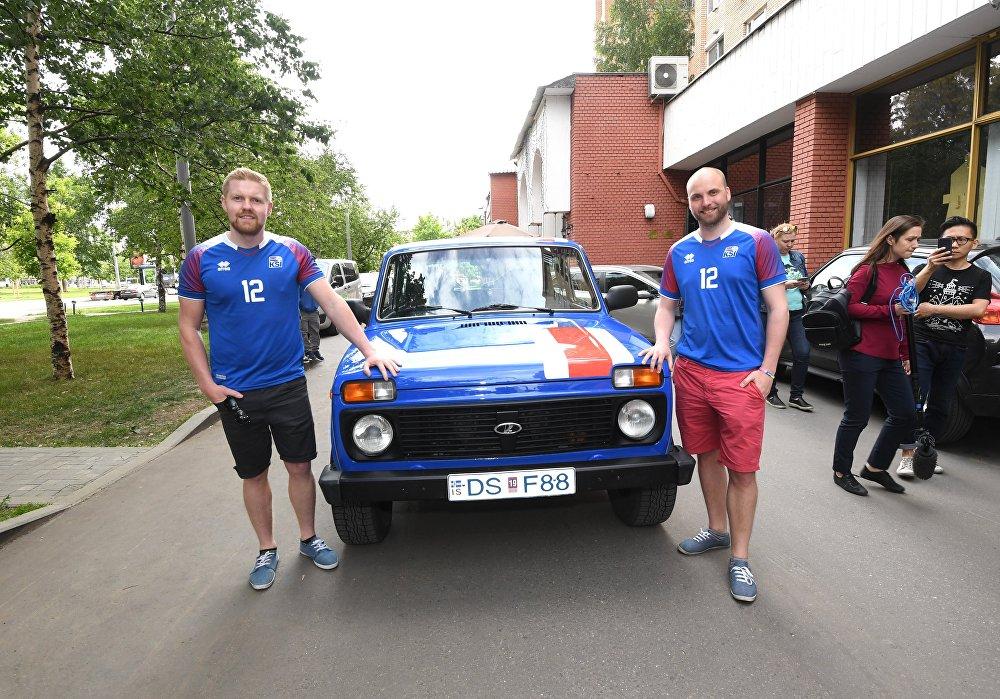 蘇聯老型越野車讓冰島球迷非常滿意