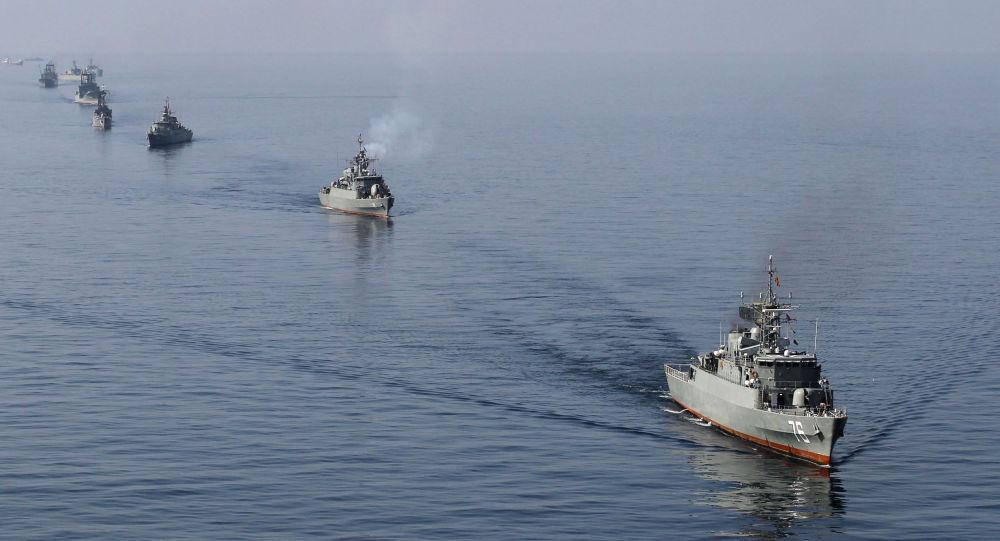 伊朗海軍在霍爾木茲海峽(資料圖片)