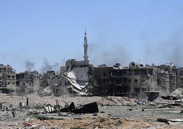 一昼夜内5000多名叙利亚人离开西南部冲突降级区