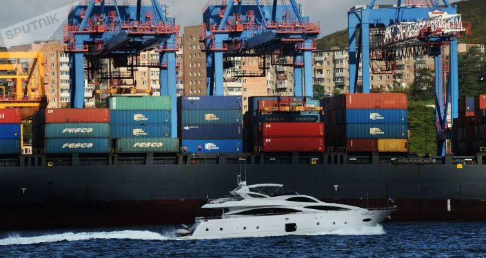 俄符拉迪沃斯托克貿易海港公司貨運量截止2018年前七個月已超2016年全年指標