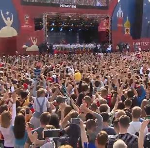 俄羅斯隊舉行盛大答謝儀式