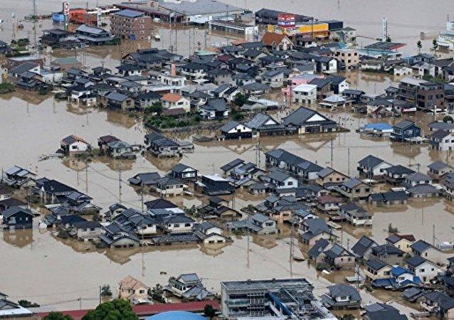 日本洪灾造成的遇难人数增加至216人