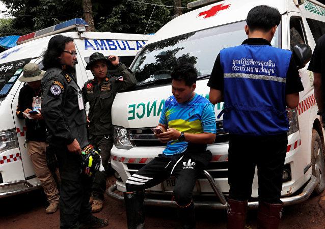 据电视台消息,泰国最后一名被困少年和教练获救出洞