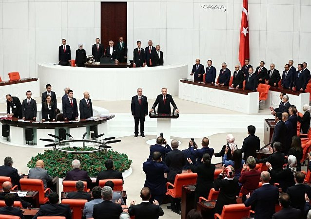 埃尔多安宣誓就任土耳其总统