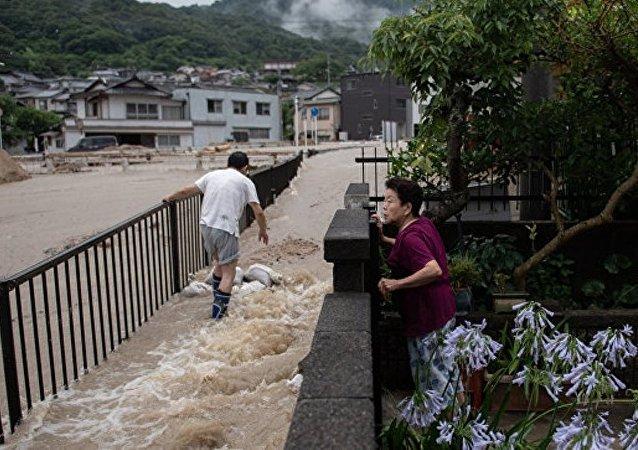 日本洪水造成134人死亡 88人下落不明