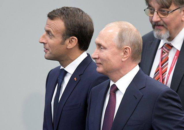 克宮:普京與馬克龍將在會談中討論歐洲安全和俄歐合作等問題