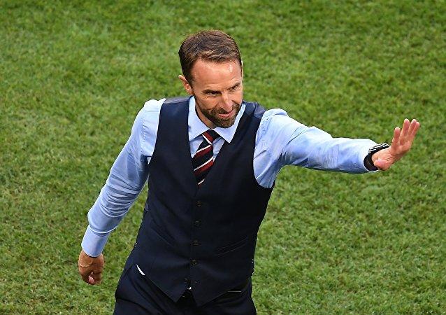 英国队主教练加雷斯•索斯盖特