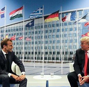 特朗普與馬克龍討論北約發展問題及貿易關係