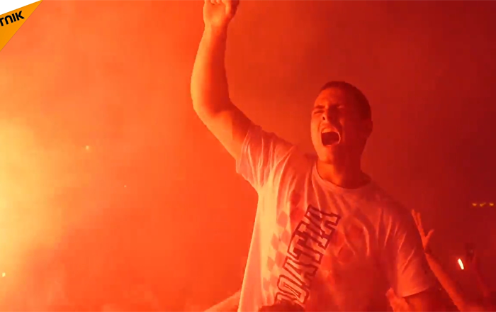 克羅地亞首都薩格勒布狂歡慶祝戰勝英格蘭隊
