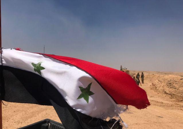 Сирийские войска на границе с Иорданией в провинции Дераа