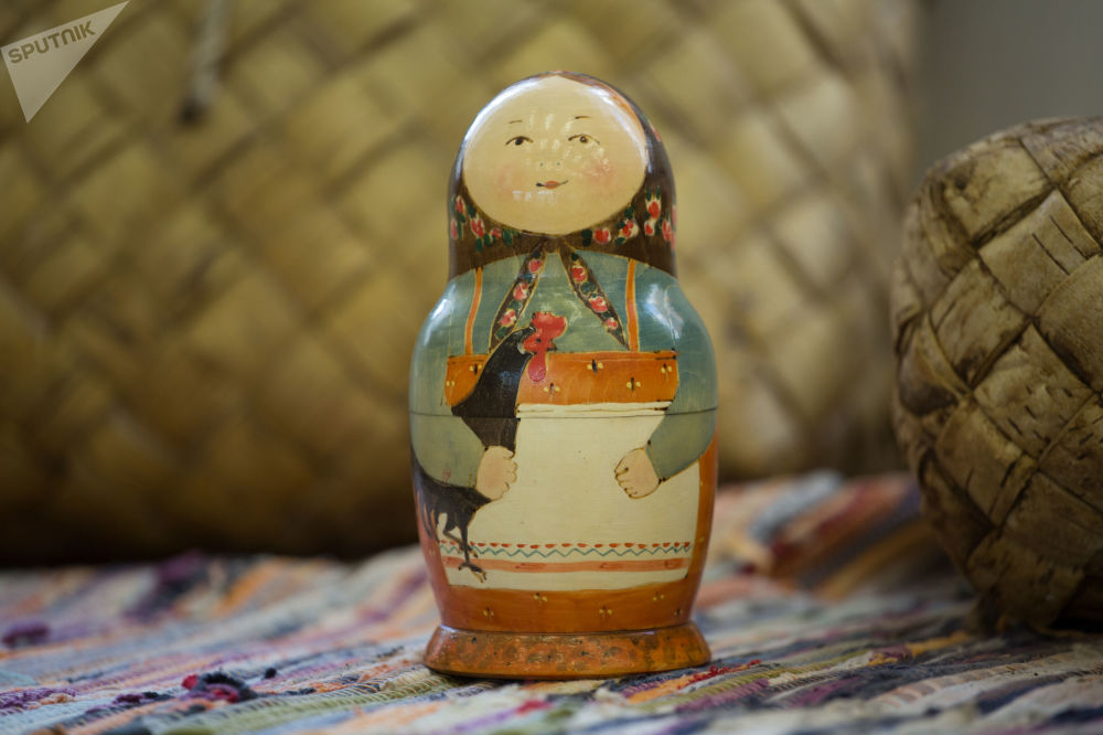 伊茲馬伊洛沃克里姆林宮俄羅斯玩具博物館裡的套娃。