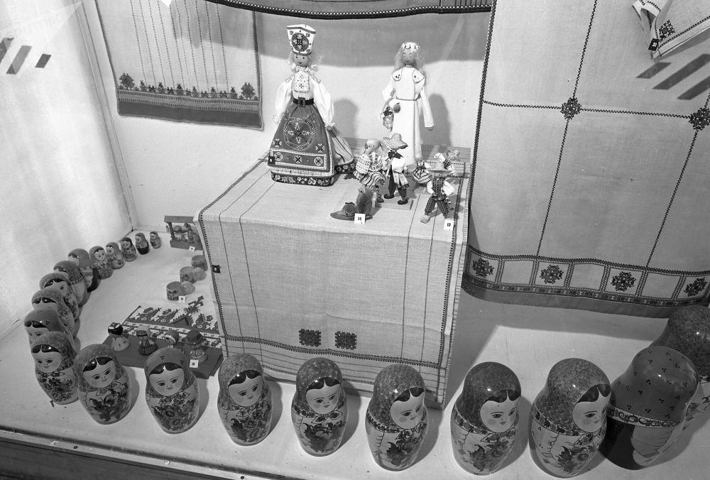 1973年漢諾威工業博覽會上蘇聯展台的裝飾。