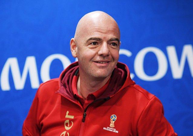 国际足联主席因凡蒂诺:这是历史上最好的一届世界杯,我想对所有参与筹办世界杯的人表示感谢