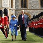 """特朗普和伊丽莎白二世的""""茶话会""""超时"""