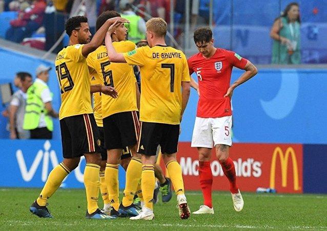 比利時隊擊敗英國隊獲得2018世界杯季軍