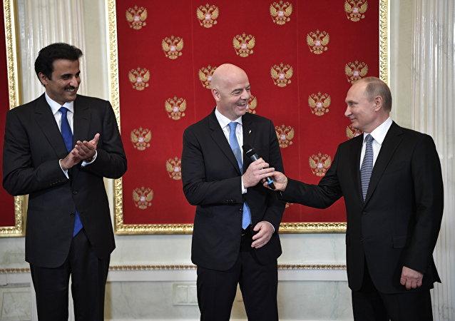 普京:俄羅斯對世界杯足球賽舉辦狀況感到驕傲