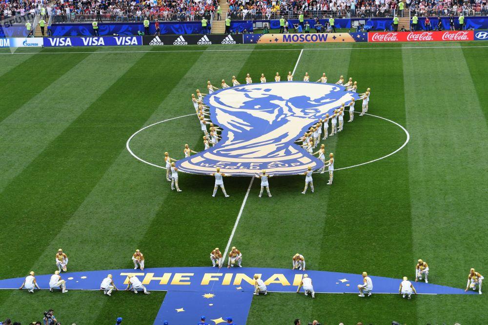 莫斯科盧日尼基體育館的2018 俄羅斯世界杯標誌物
