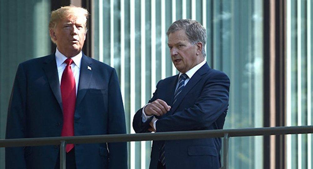特朗普与芬兰总统尼尼斯托举行会晤