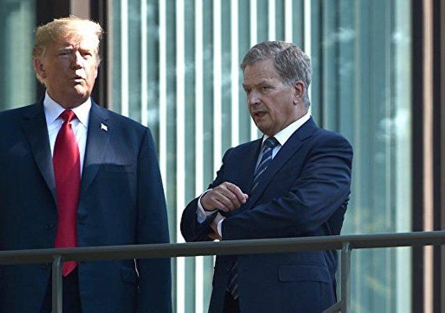 特朗普與芬蘭總統尼尼斯托舉行會晤