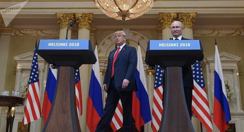 俄罗斯总统普京会见美国总统特朗普