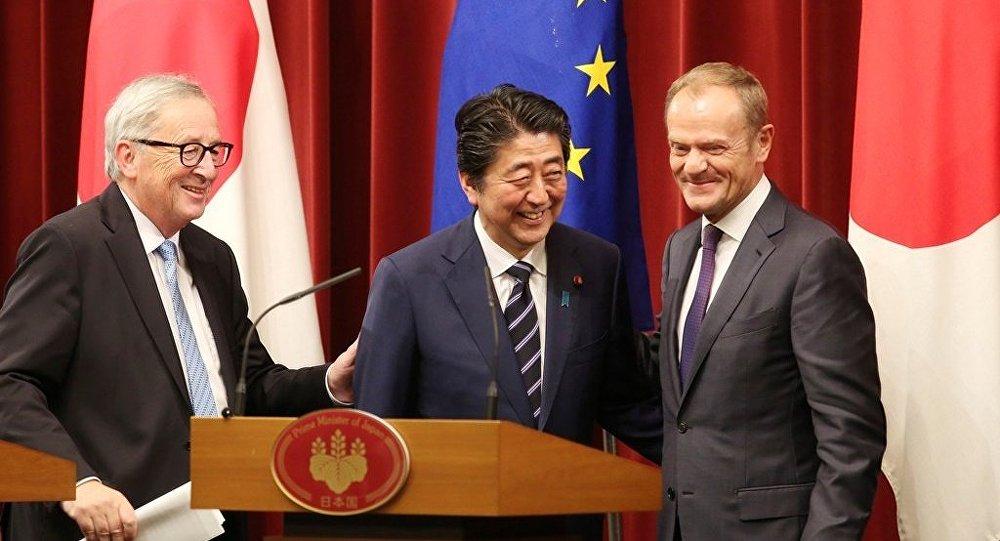 欧盟日本签署经济伙伴关系协定
