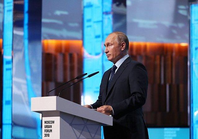 普京:俄罗斯空间发展规划将有助于改造城市