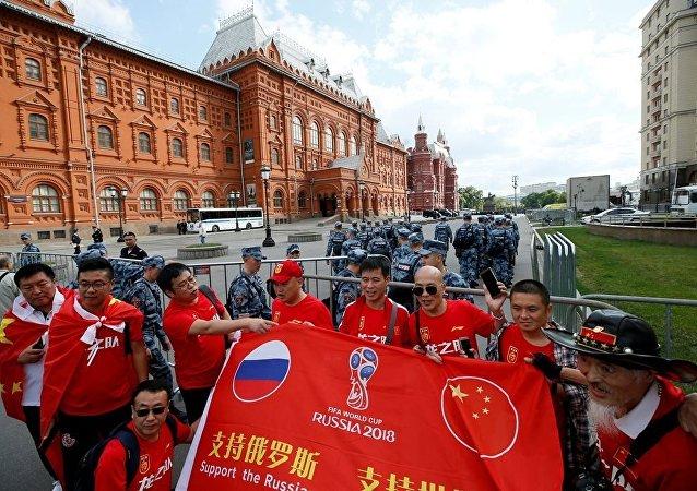 2018年世界杯足球赛期间22.3万名中国游客到访莫斯科