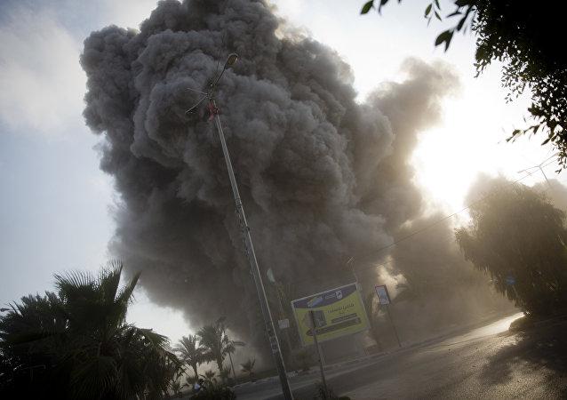 以军对加沙地带发起大规模进攻