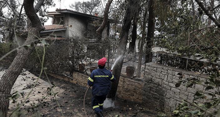 媒體:希臘發生森林火災已造成近50人死亡