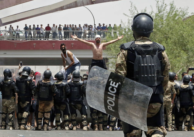 巴士拉抗議活動