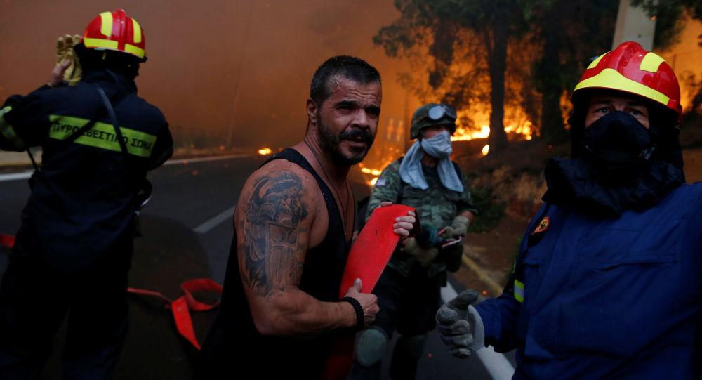 普京致電希臘領導人表示慰問並稱願意提供必要的協助
