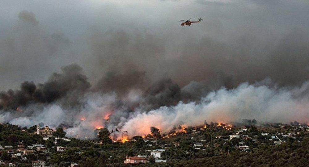 希腊埃维亚岛大火16小时未能扑灭 已疏散500人